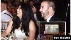 پیام ویدئویی پرزیدنت اوباما برای عروس و داماد و مهمانان پخش شد