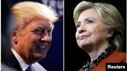 도널드 트럼프(왼쪽) 미 공화당 대통령 후보와 힐러리 클린턴 민주당 후보.
