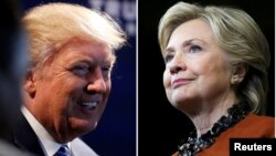 Hai ứng cử viên tổng thống Hoa Kỳ Hillary Clinton và Donald Trump.