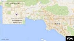 加大洛杉矶分校地理位置图