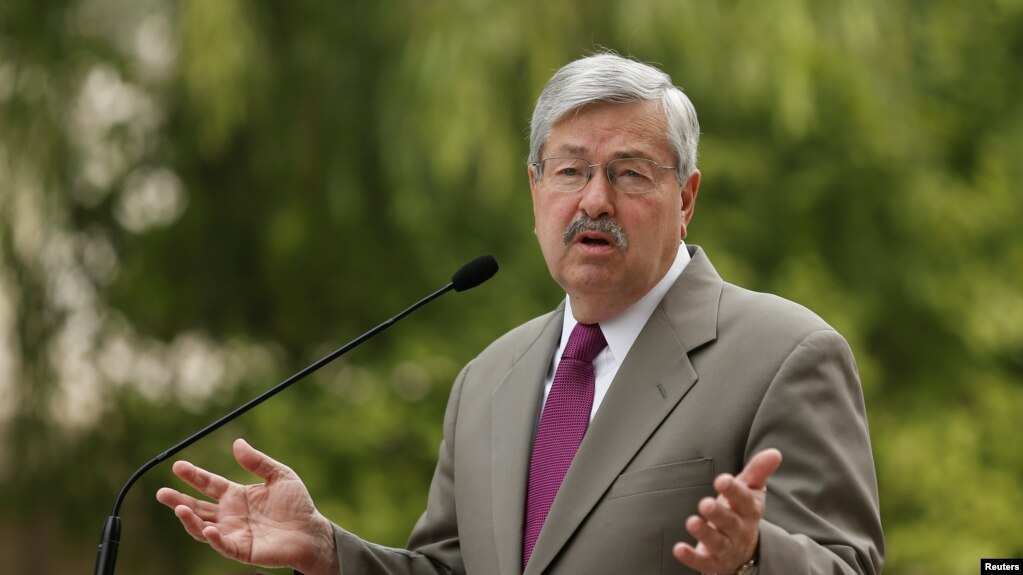 Newly appointed U.S. Ambassador to China Terry Branstad