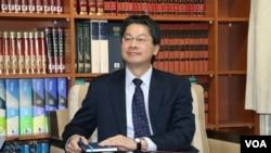 台灣外交部發言人李憲章 (美國之音楊明拍攝)