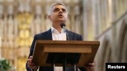 "El laborista Sadiq Kahn aseguró que: ""seré el alcalde de todos los londinenses""."