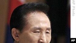 李明博讲话 六方会谈转为双边会谈?