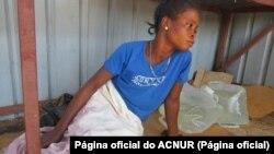 Refugiada da RDC em Dundo, Angola