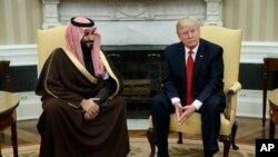 محمد بن سلمان اولین مقام ارشد عربستان است که با پرزیدنت ترامپ دیدار می کند.