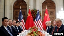 Quan chức Trung Quốc và Mỹ trong cuộc thương thảo cuối năm 2018.