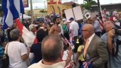 Exilio demanda libertad en Cuba