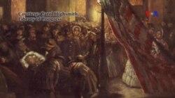 Phục chế bức họa đặc tả Tổng thống Lincoln sau khi bị ám sát