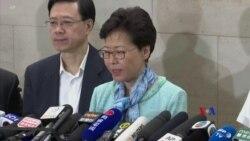 林鄭月娥罕見在清晨四時召開記者會並譴責示威者佔據與破壞立法會