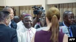 Mgr Marcel Utembi, mokambi ya CENCO (Lingomba lya ba episkopo ya RDC) na Kinshasa, 30 décembre 2016.