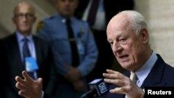 نشست خبری استفان دی میستورا نماینده ویژه سازمان ملل متحد در امور سوریه در مونیخ آلمان - ۲۳ بهمن ۱۳۹۴