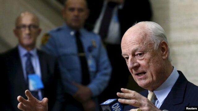"""Đặc sứ Liên Hiệp Quốc Staffan de Mistura hồi đầu tháng này đã loan báo """"tạm ngưng"""" cuộc đàm phán không trực tiếp giữa chính phủ Syria phe chống đối có chủ trương ôn hoà."""