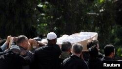 Cérémonie d'inhumation au Memorial Park Cemetery à Christchurch, en Nouvelle-Zélande, le 20 mars 2019. REUTERS / Jorge Silva