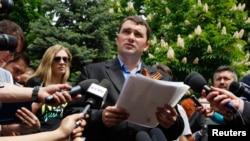 5月12日卢甘斯克地区选举委员会负责人宣布投票结果