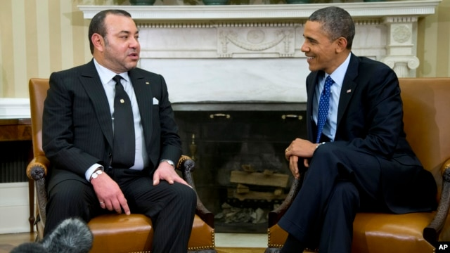 President Barack Obama meets with Morocco's King Mohammed VI, Nov. 22, 2013, in the Oval Office of the White House.