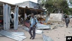 Une maison en ruines à Mogadiscio