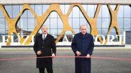 Azərbaycan və Türkiyə prezidentləri Füzuli hava limanını açır