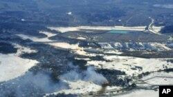 遭受地震海嘯以及核事故災難的日本福島海岸