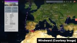Ukraine to Scotland route, via North Africa