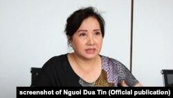 Bà Nguyễn Thị Như Loan, chủ tịch Quốc Cường Gia Lai, trả lời báo Người Tiêu Dùng