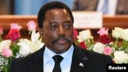 Le président Joseph Kabila, 5 avril 2017.