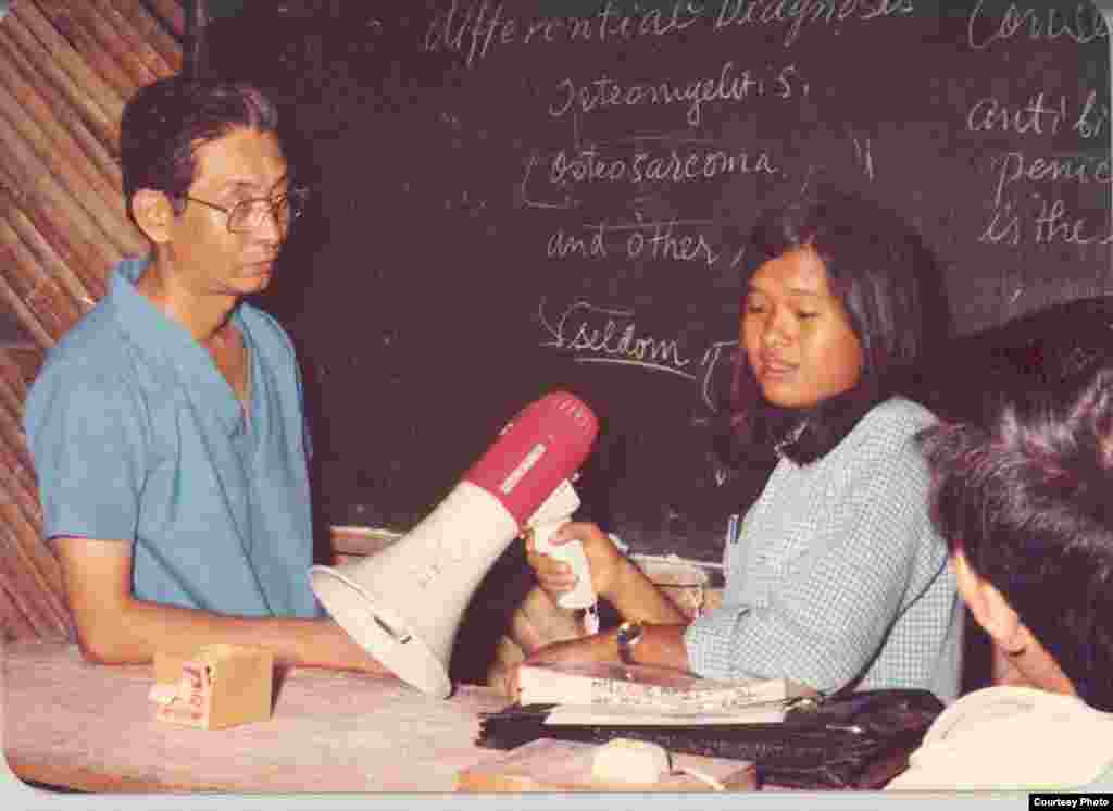 Ly Sambo worked as an interpreter for World Vision in Khao I-Dang refugee camp along Cambodian and Thai border in early 1980s. (Courtesy Photo)