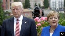 Tổng thống Mỹ Donald Trump và Thủ tướng Đức Angela Merkel tại hội nghị thượng đỉnh G7 ở Taormina, Ý, ngày 26/5/2017.