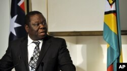 MDC leader Morgan Tsvangirai. File Photo.