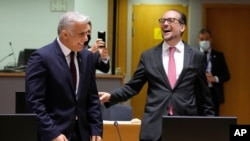 وزیران خارجه اسرائيل و اتریش - ۱۲ ژوئیه ۲۰۲۱