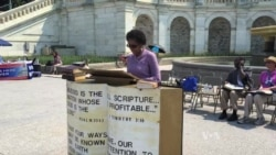 Christians Hold Bible-Reading Marathon on US Capitol Steps
