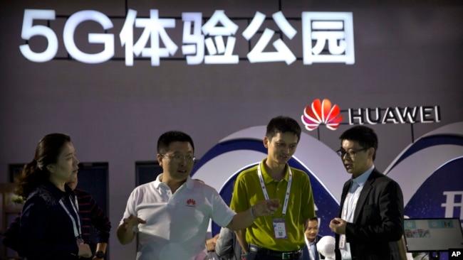 Huawei tại một cuộc triển lãm ở Bắc Kinh.