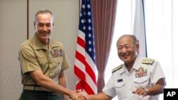 美國參謀長聯席會議主席鄧福德將軍8月18日在日本。