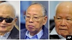 自左至右﹕農謝﹑英薩莉﹑喬森潘11月21日出庭
