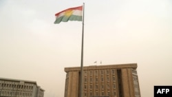 Gedung parlemen Kurdi di Irbil, Irak utara, 29 Oktober 2017. (Foto: dok).