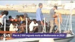 Plus de 2 000 migrants morts Méditerranée en 2018