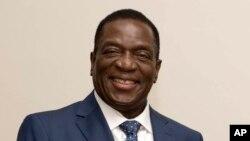 Emmerson Mnangagwa, président du Zimbabwe, lors d'une courte visite à Pretoria, Afrique du Sud, 22 novembre 2017.