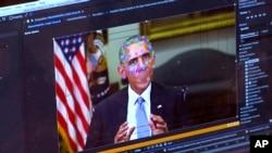 Елемент створення «діпфейк» відео про колишнього президента США Барака Обаму