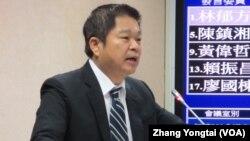 台灣在野黨民進黨立委蔡煌琅 (美國之音張永泰拍攝)