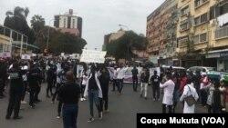 Manifestação em Luanda contra violência policial em Luanda (Foto de Arquvo)