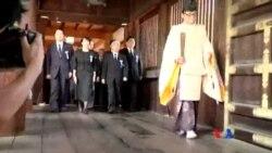 2014-08-15 美國之音視頻新聞: 中韓譴責安倍晉三向靖國神社供奉祭品
