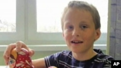 Russian boy Artyom Savelyev, 7, who was sent back to Moscow by his adoptive American mother