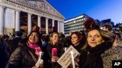 برسلنز مین خواتین کا مظاہرہ۔ 21 جنوری 2017