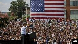 Выступление Барака Обамы в Государственном университете штата Вирджиния, Норфолк. 4 сентября 2012 года