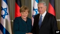 Nemačka kancelarka Angela Merkel i izraelski premijer Benjamin Netanjahu za vreme susreta u Jerusalimu, 24. februara 2014.