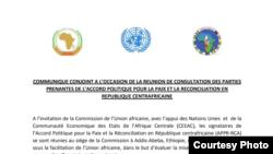 Gouvernement et groupes armés en réunion de suivi de l'accord de paix
