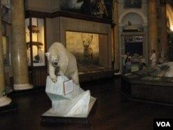 位於聖彼得堡市中心的南極和北極博物館。主要內容講述俄國和蘇聯開發和探險北極,以及北極航道歷史。 (美國之音白樺拍攝)