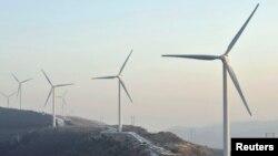 풍력발전을 위해 세워진 터빈. (자료사진)