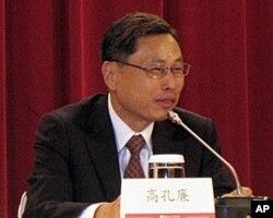 台湾海基会副董事长兼秘书长高孔廉6月8号在圆山饭店