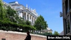 İran'la nükleer görüşmelerin yürütüldüğü Viyana'daki Coburg Sarayı